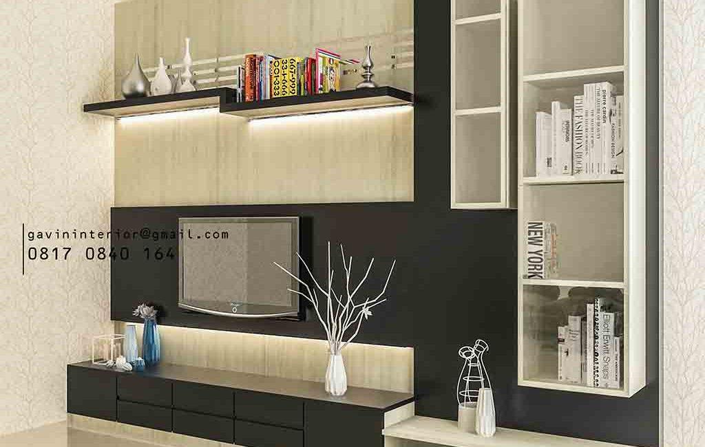 Design Backdrop TV Mewah Model Minimalis Pasang Di Villa Artha Gading Jakarta Utara