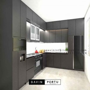 Contoh Kitchen set all black matte ID4585PT