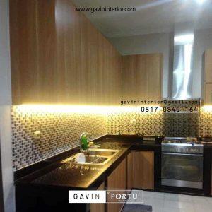 Bikin Kitchen Set HPL Motif Kayu Project Griya Loka BSD Serpong Tangerang id4606P