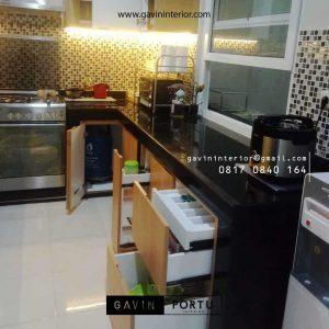 Buat Kitchen Set HPL Motif Kayu Project Griya Loka BSD Serpong Tangerang Id4606P