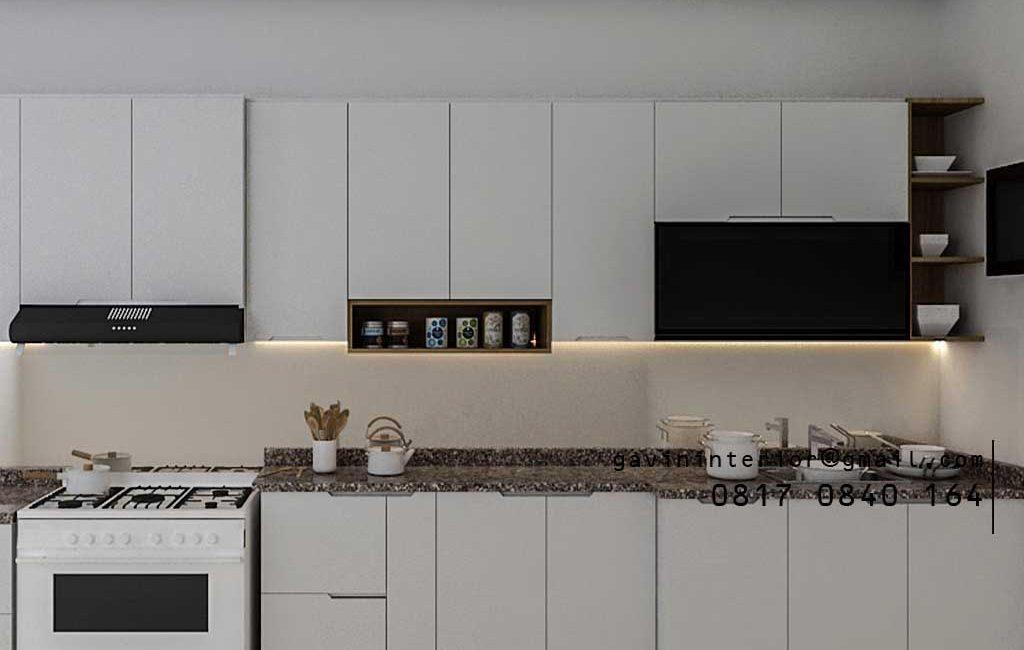 Design Kitchen Set Warna Putih Jasmine Residence Tanjung Barat Jagakarsa Jakarta