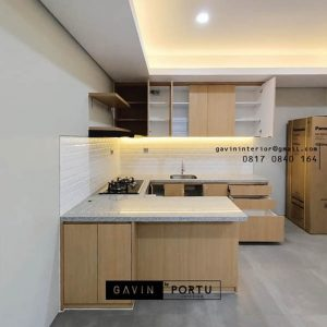 Buat Kitchen Set HPL Motif Kayu Kencana Loka 2 Extension Serpong Tangerang Id4867P