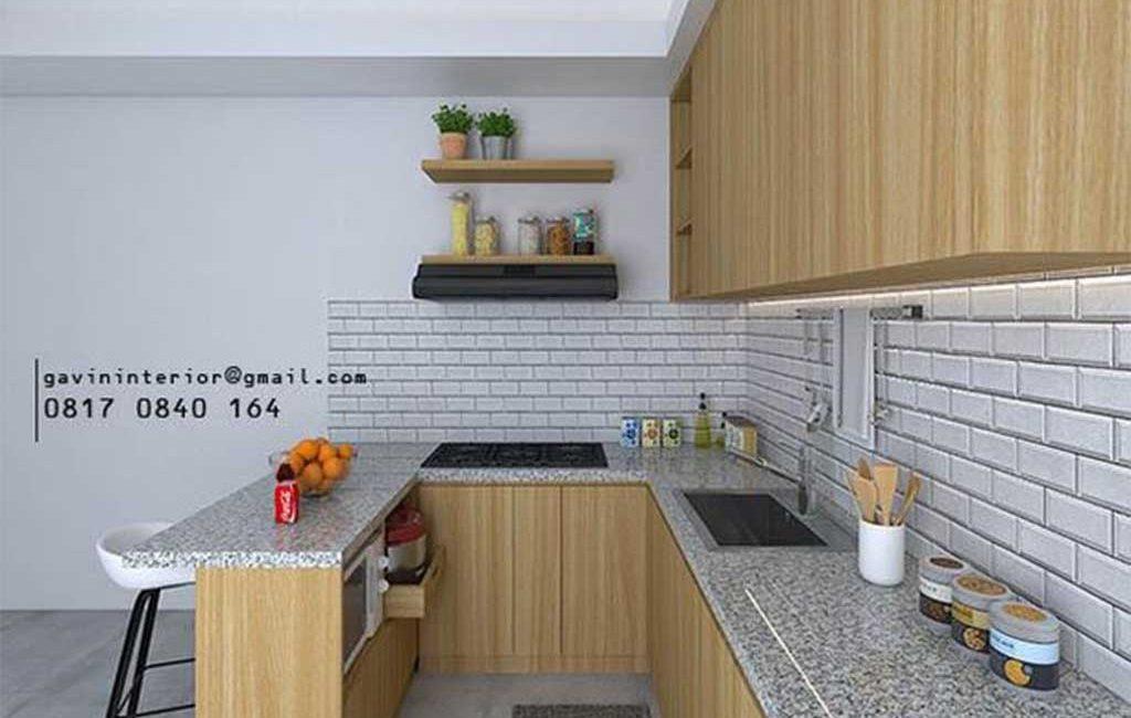 Kitchen Set HPL Motif Kayu Kencana Loka 2 Extension Serpong Tangerang