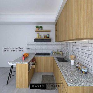 Kitchen Set HPL Motif Kayu Kencana Loka 2 Extension Serpong Tangerang ID4867T
