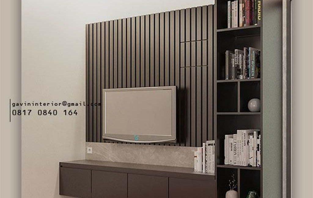Harga Backdrop TV Grey Perumahan Dukuh Bima Kota Legenda Tambun Selatan Bekasi