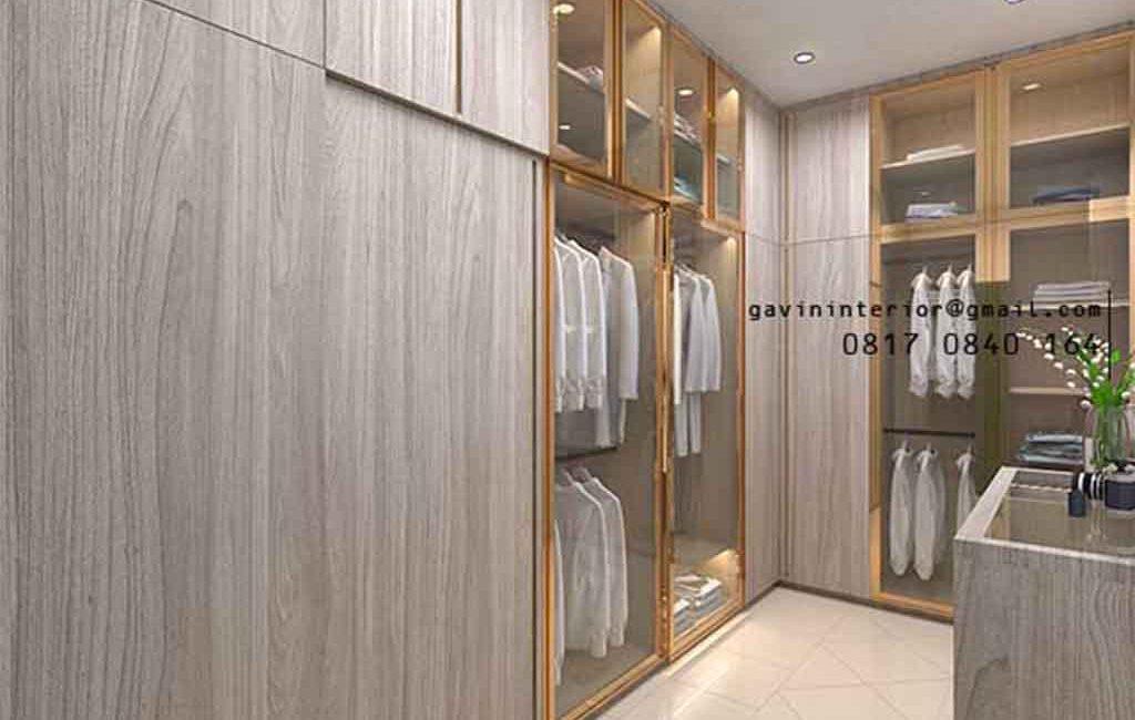 Walk In Closet Custom Motif Kayu Klien Alam Asri Pondok Indah Kebayoran lama