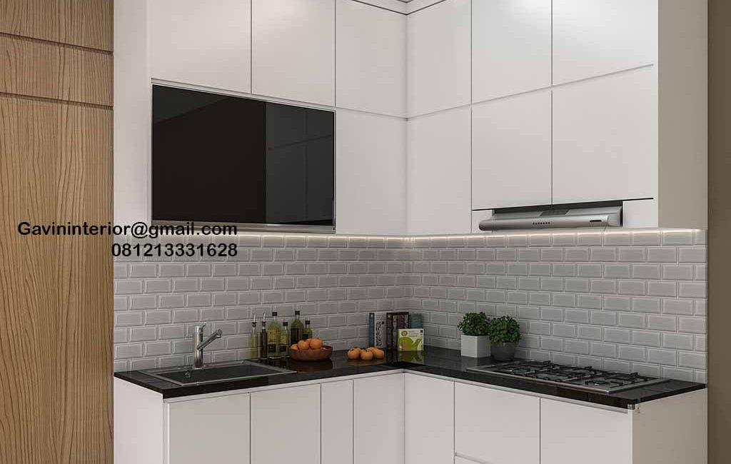 Harga Kitchen Set Murah Putih Perumahan Villa Rizki Ilhami Kelapa Dua Tangerang