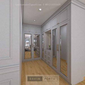 Walk In Closet Mewah Desain Klasik Grey Cluster Violin Golf Island Pik Penjaringan Jakarta ID4969P